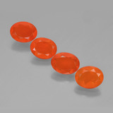 thumb image of 0.7ct Oval Facet Fire Orange Fire Opal (ID: 449585)