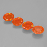 thumb image of 1.8ct Oval Facet Orange Fire Opal (ID: 449589)