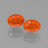 thumb image of 1.5ct Oval Facet Orange Fire Opal (ID: 450407)