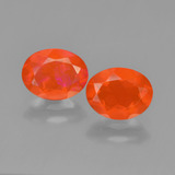 thumb image of 1.1ct Oval Facet Orange Fire Opal (ID: 450408)