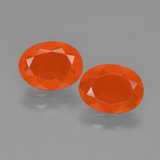 thumb image of 1.3ct Oval Facet Orange Fire Opal (ID: 450409)