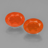 thumb image of 1.8ct Oval Facet Orange Fire Opal (ID: 450413)