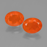 thumb image of 2.2ct Oval Facet Orange Fire Opal (ID: 450414)