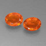 thumb image of 1.4ct Oval Facet Orange Fire Opal (ID: 450550)