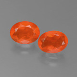 thumb image of 1.5ct Oval Facet Orange Fire Opal (ID: 450555)