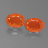 thumb image of 1.5ct Oval Facet Orange Fire Opal (ID: 450558)