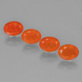 thumb image of 2.4ct Oval Facet Orange Fire Opal (ID: 450700)