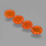thumb image of 3.1ct Oval Facet Orange Fire Opal (ID: 450703)