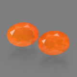 thumb image of 1.6ct Oval Facet Orange Fire Opal (ID: 453904)