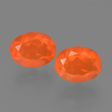 thumb image of 0.9ct Oval Facet Orange Fire Opal (ID: 453905)