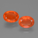 thumb image of 1.4ct Oval Facet Orange Fire Opal (ID: 453908)