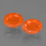 thumb image of 1.8ct Oval Facet Orange Fire Opal (ID: 453911)