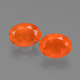 thumb image of 1.5ct Oval Facet Orange Fire Opal (ID: 453912)