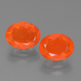 thumb image of 2.3ct Oval Facet Orange Fire Opal (ID: 453913)