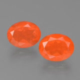 thumb image of 2.3ct Oval Facet Orange Fire Opal (ID: 453939)