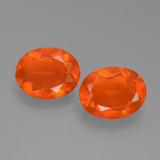 thumb image of 1.9ct Oval Facet Orange Fire Opal (ID: 453940)