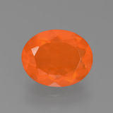 thumb image of 1.6ct Oval Facet Orange Fire Opal (ID: 453942)