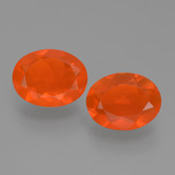 thumb image of 1.3ct Oval Facet Orange Fire Opal (ID: 453943)