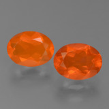 thumb image of 1.7ct Oval Facet Orange Fire Opal (ID: 453945)
