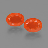 thumb image of 1.5ct Oval Facet Orange Fire Opal (ID: 453966)