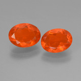 thumb image of 1.4ct Oval Facet Orange Fire Opal (ID: 453969)