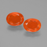 thumb image of 1.3ct Oval Facet Orange Fire Opal (ID: 453974)