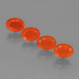 thumb image of 2.3ct Oval Facet Orange Fire Opal (ID: 454030)