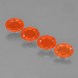 thumb image of 2ct Oval Facet Orange Fire Opal (ID: 454031)