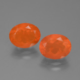 thumb image of 2.4ct Oval Facet Orange Fire Opal (ID: 454110)