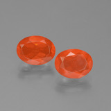 thumb image of 1.4ct Oval Facet Orange Fire Opal (ID: 454112)