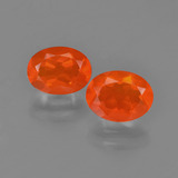 thumb image of 1.6ct Oval Facet Orange Fire Opal (ID: 454170)