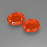 thumb image of 1.4ct Oval Facet Orange Fire Opal (ID: 454177)