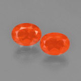 thumb image of 1.8ct Oval Facet Orange Fire Opal (ID: 454178)