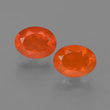 thumb image of 1.5ct Oval Facet Orange Fire Opal (ID: 454263)