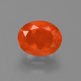 thumb image of 1.6ct Oval Facet Orange Fire Opal (ID: 454267)