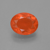 thumb image of 1.3ct Oval Facet Orange Fire Opal (ID: 454270)