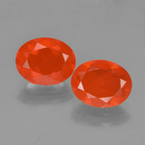 thumb image of 2.2ct Oval Facet Orange Fire Opal (ID: 454301)