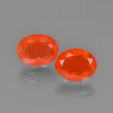 thumb image of 1.6ct Oval Facet Orange Fire Opal (ID: 454302)