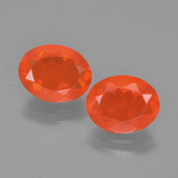 thumb image of 2.1ct Oval Facet Orange Fire Opal (ID: 454304)