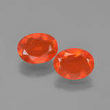 thumb image of 1.4ct Oval Facet Orange Fire Opal (ID: 454307)