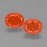 thumb image of 1.8ct Oval Facet Orange Fire Opal (ID: 454310)
