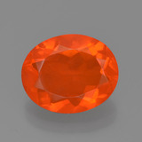 thumb image of 1.4ct Oval Facet Orange Fire Opal (ID: 454348)