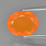 thumb image of 1.4ct Oval Facet Orange Fire Opal (ID: 454349)