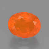 thumb image of 1.3ct Oval Facet Orange Fire Opal (ID: 454351)