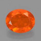 thumb image of 1.5ct Oval Facet Orange Fire Opal (ID: 454352)