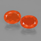 thumb image of 2.2ct Oval Facet Orange Fire Opal (ID: 454419)