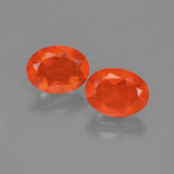 thumb image of 1.5ct Oval Facet Orange Fire Opal (ID: 454430)