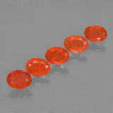 thumb image of 1.6ct Oval Facet Orange Fire Opal (ID: 454467)