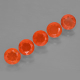 thumb image of 2.6ct Round Facet Orange Fire Opal (ID: 454473)