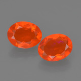 thumb image of 1.4ct Oval Facet Orange Fire Opal (ID: 454543)